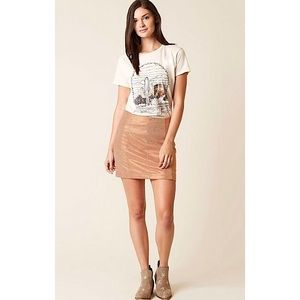 FREE PEOPLE | Modern Femme Foiled Shimmer Skirt